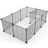 SUKI&SAMI Small Pet Playpen, Portable Animal Cage Indoor Outdoor, Exercise Pen Yard Fence