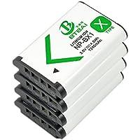 4x Nuevo BTBAI–? 1,24una batería para Sony NP-BX1, NPBX1Cyber-shot dsc-rx1b DSC-RX1R, DSC-WX300DSC-WX300/R DSC-WX300/W DSC-WX350dsc-wx350W DSC-WX500DSC-HX50DSC-HX50VB DSC-HX50V DSC-HX60, DSC-HX60V, DSC-HX90DSC-HX90V DSC-HX300, DSC-HX400, DSC-HX400V DSC-RX1DSC-RX100II III IV M2M3HDR-CX240HDR-PJ240HDR-PJ340HDR-MV1DSC-H400HDR-AS10HDR-AS15, HDR-AS30V HDR-AS100V de HDR-AS100HDR-AS100VR cámara digital