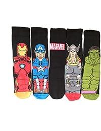 Men's Socken 5 Paar, Marvel Comics