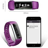 Regno Gbtm Fitcloud Pro Smart Wristband fitness braccialetto/frequenza cardiaca/pressione/Oxygen/contapassi/Sleep Tracker/meteo per iOS e Android, Purple