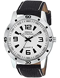 Oreca Analog White Dial Men's Watch- GT7007