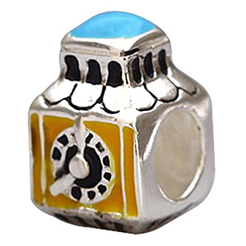 Soulbead The Clock Charm 925 Sterling Silver Enamel Bead for