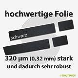 Türschwellerschutzfolien 320 µm - schwarz - für TÜRSCHWELLERSCHUTZFOLIE - Farbe SCHWARZ - SEAT ALHAMBRA (7N) ab 2010