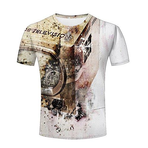 Men 3D T-Shirt Retro Building Printed Jing Unisex Funny Patterned