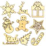 Baker Ross Mini-Holzformen Weihnachten – Kreatives Bastelmaterial für Kinder für Weihnachtliche Bastelarbeiten und Dekorationen (45 Stück)