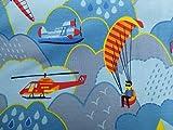 Jersey Flugzeug/Hubschrauber / 0,5m / Kinderstoff /