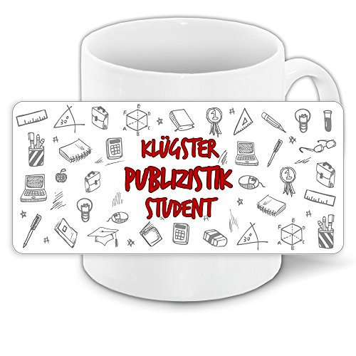 Tasse für-Studenten mit Motiv - Klügster Publizistik-Student - | Studenten-Geschenk | Studenten-Tasse
