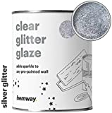 Hemway - Klare Glitzerlasur für bereits gestrichene Wände - große Auswahl an Farben - 1 Liter