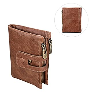 Unisex Asnlove Premium PU Leather Wallet/Purse with Anti-Theft and Double Zip Purse, Mini Coin Wallet, Credit Card Holder, Slim Wallet, Credit Card Case Style#5