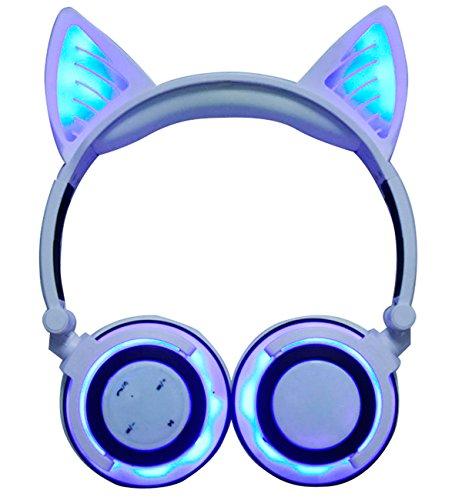 Caracteristicas: ◆ Bluetooth ◆ Batería 8 horas ◆ LED luces brillantes en las orejas de gato ◆ Auriculares cerrados dinámicos ◆ Diadema plegable ◆Driver 40mm ◆Control de micrófono y teléfono inteligente Especificaciones BT107 ◆ Puertos e interfaces ◆ ...