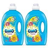 Omo Lessive Liquide Fruits et Fleurs d'Eté 2,94l 42 Lavages - Lot de 2