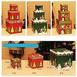 Caja de Regalo de cartón para hemorragias, Suministros de decoración de Navidad, diseño de Escena