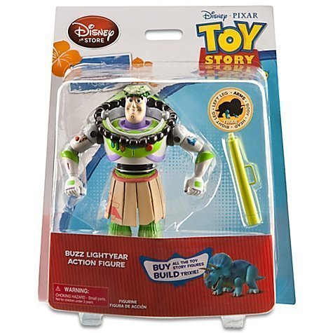 Toy Story Hawaiian Vacation Buzz Lightyear Action Figure -- 6\'\' H -- With Build Trixie Parts by Toy Story