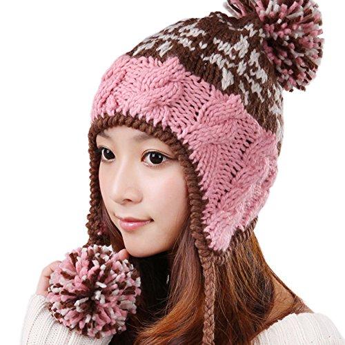 chapeau en laine coréen/Bonnet de ski/ Chapeau chaud oreille/ chapeau tricoté B