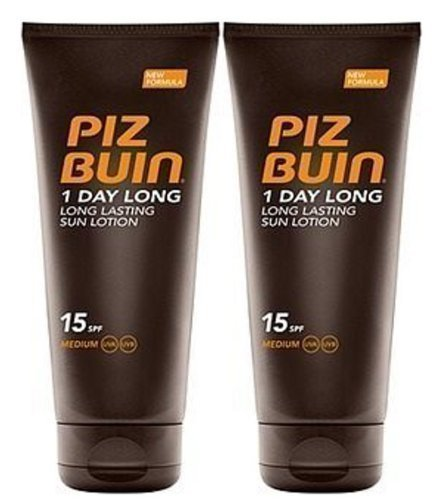 Piz Buin 1 Day Long Duo Sun Lotion Spf 15 Large 2 X 200mil = 400mil