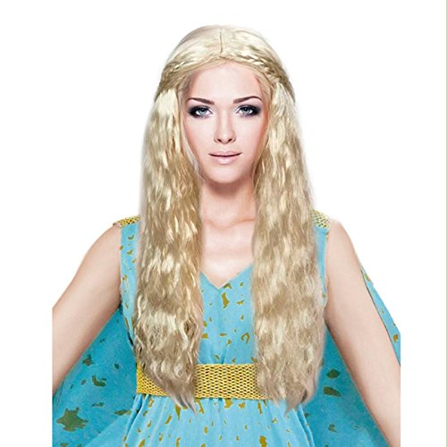 Peluca Rubia de Princesa Dragón Accesorio Carnaval