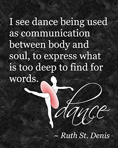 Ballet Attitude Dance Quote: Life Planner - Journal for Dancers - 8 x 10 Dot Grid Notebook, 160 Pages - Daily, Weekly, Monthly Personal Planner por Dance Thoughts