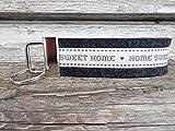 Schlüsselanhänger Schlüsselband schwarz grau Wollfilz Home Sweet Home beige dunkelgrau Geschenk!