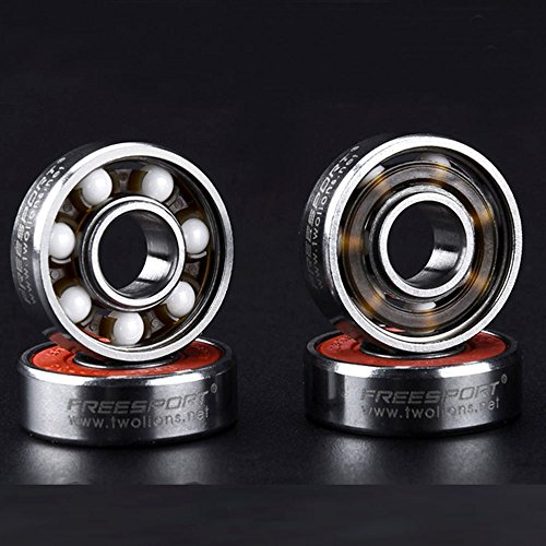 8 Keramik Skate Kugellager, 608 RS ABEC 9 Kugellager für Skate, Skateboard Kugellager Longboard Kugellager Roller Skate Kugellager 8 mm x 22 mm x 7 mm