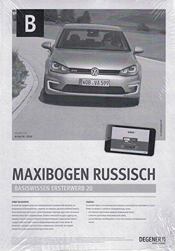 Papierbögen Führerschein Klasse B/BE - Auto - RUSSISCH