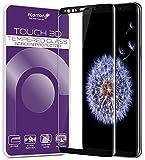 Fosmon Samsung Galaxy S9+ /S9 Plus 9H Härte HD Premium Panzerglas, Displayschutzfolie,Schutzfolie [Ultra klar],antikratz,bruchsicher,blasenfrei,3D-Touch mit Hülle verwendbar,leicht anzubringen-Schwarz