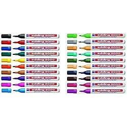 Edding 3000 Marcadores permanentes en 20 colores distintos, 20 unidades