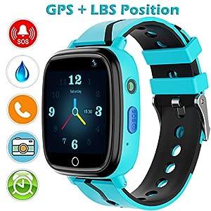 YENISEY GPS Smartwatch para Niños,WiFi Reloj Rastreador de TeléFono para Niñas y Niños Smartwatch con Monitor Remoto CáMara Linterna Reloj Despertador Juego de ConversacióN por Voz SOS Llamada 1