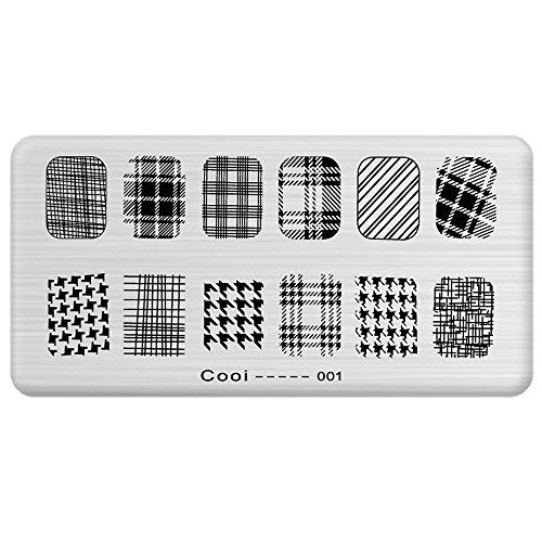 bluelans® Manucure DIY Nail Art Stamp image Stamping plaque modèle