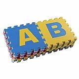 Di alta qualità BPA-libero e formammide mat 30 Puzzle con tappetini 26 di gioco, tappetino giochi per bambini robusti, materassino isolante play-freddo, tappeto di schiuma con il suono-isolamento, game pad, contro pavimenti freddi e freddo pavimento. Come barra di granchio per sfogarsi, educativo coperta del gioco. (ABC) immagine