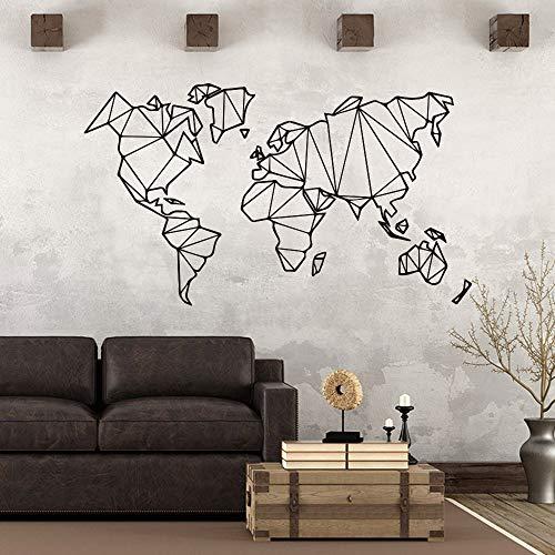 Arte Mapa Mundo Geométrico vinilo Pegatinas Pared