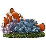 "Penn-Plax Finding Nemo and Marlin Aquairum Ornament 4"" 9"