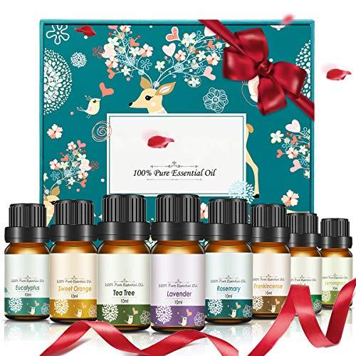 Janolia ätherische Öle, Reine Fragrance Oil Diffuser Duftöl Set, Perfektes Geschenk