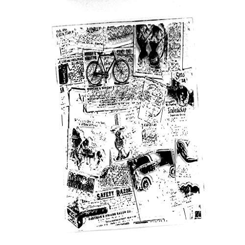 Lifet Zeitung Briefmarke Transparente Silikonstempel Set Text Clear Stamps Stempel Mit Vielfalt-teilig Schneiden Schablonen