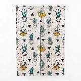 SHUNSHUNML Japanischer Vorhang Küchen-Schlafzimmer-Türvorhang Verschiedene Blumentopfkombinationen Door Valance Half Curtain Türvorhang 85 × 120 cm