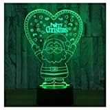 DDBBhome Xmas Series Christmas Decorations Home Party 3D Lampada LED Night Light Lampada Babbo Natale Albero Pupazzi di Natale E Regali di Capodanno