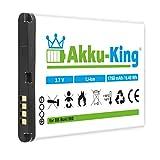 Akku-King Akku für Blackberry Bold 9000, 9030, 9220, 9630, 9700, 9780, 8980 Curve, Magnum, Niagara, Onyx - ersetzt M-S1, BAT-14392-001 - Li-Ion 1750mAh