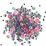 Buttons Galore Sparkletz - Gemas acrílicas Transparentes, Lentejuelas, Perlas de Fondo Plano, 3 Paquetes de 36 Gramos
