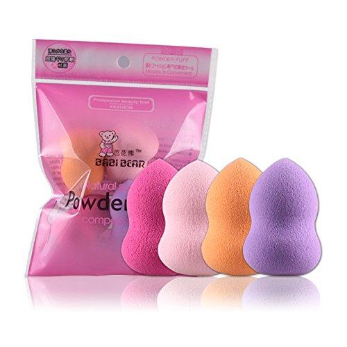 Jingyuu 4pcs Éponge Maquillage Applicateur, Beauty Maquillage Éponge, Flawless eau Gouttelettes Éponge,Makeup Sponge Impeccable Liquide Fondation Blender