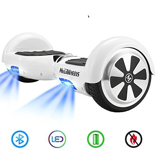 "M MEGAWHEELS 6.5"" Monopattino Elettrico Con Bluetooth - 500 W Motore - Borsa Inclusa…"