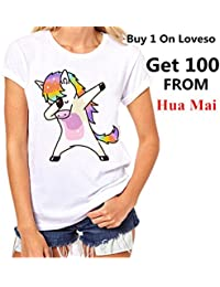 Frauen Casual Einhorn T-shirt Harajuku Blusa Tops Rundhals Weißen Kurzarm t-shirt Lady Tees