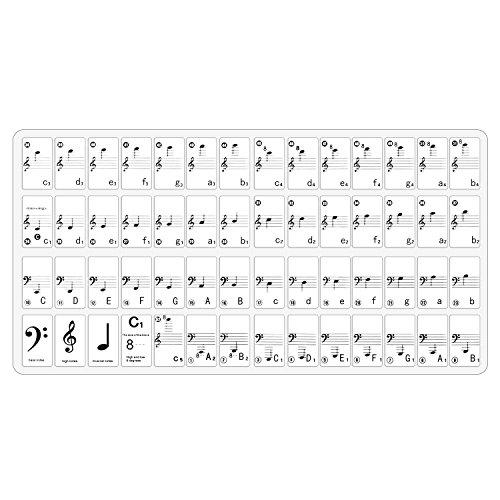 Neewer Klavier und Keyboard Musik Hinweis kkomplettes Set Aufkleber mit Benutzerhandbuch für 49, 61, 88 weißen und schwarzen Tasten
