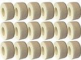 Giantree 20pcs Bandages enveloppants cohésifs auto-adhérents, propre bandage de gaze d'enveloppe de pression sanitaire pour l'entorse d'entorse (blanc)