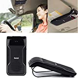Kit DLAND Bluetooth Visor Car Speakerphone multipunto - Wireless Vivavoce per iPhone 5 5S 5C 4S 4 iPad, Samsung Galaxy S4 S5 Nota 2 Nota 3, Google Nexus 7, Google LG Nexus 4, Google LG Optimus G Pro, Sony Xperia Z1 L39H Z L36h , cellulare Blackberry Z10, smart Phones e All Bluetooth