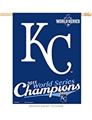 Wincraft Tapis Motif Royals de Kansas City 2015World Series Champions MLB vertical Drapeau 90x 70cm