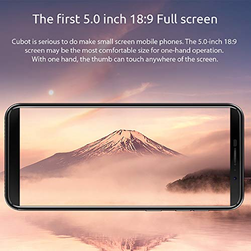 "CUBOT J3 (2018) Smartphone Libre Pantalla 5.0"" 18:9,  Android Go 4 Core MT6580 Dual SIM 3G 2G,  1GB RAM 16GB ROM,  Cámara 5MP + 8MP,  Batería 2000mAh,  Desbloqueo Facial,  Bluetooth WiFi (Gris)"