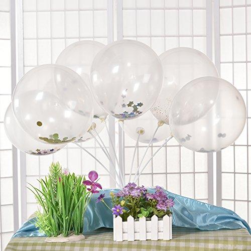 Globos grandes con confeti, de látex, 30 cm, para cumpleaños y bodas, látex, Pink Sequins, 20PCS