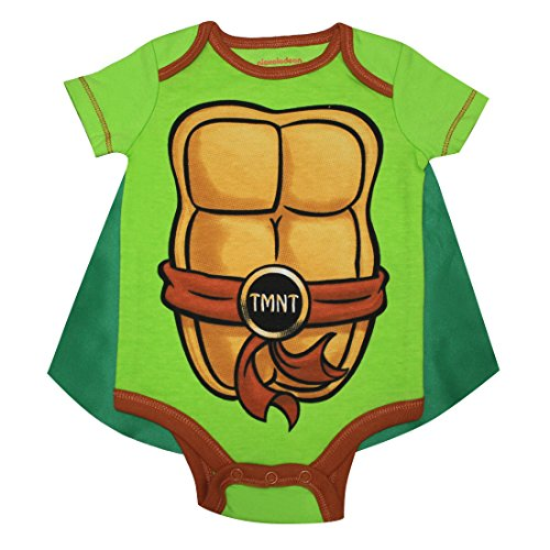 Anzug Teenage Ninja Turtles Mutant (2 PCS SET Teenage Mutant Ninja Turtles Baby Jungs Einteiliger Spielanzug mit abnehmbarem Kap 6/9M)