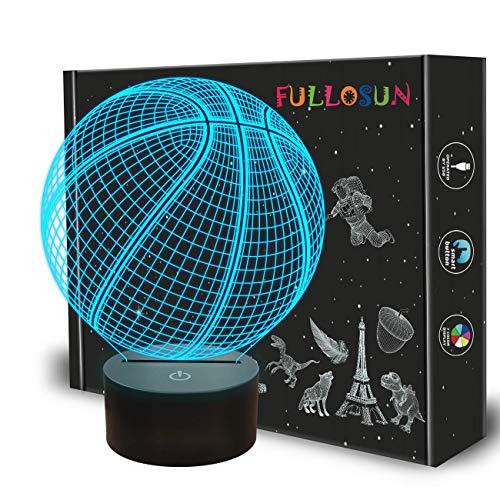 Kinder Nachtlicht Fußball 3D optische Täuschung Lampe mit 7 Farben ändern Fußball Geburtstag Weihnachten Idee für Sport Fan Jungen Mädchen