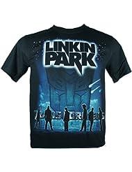 LINKIN PARK Herren T-Shirt Schwarz Transformers Double Extra Large XXL