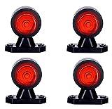 4 x WEISS + ROT Begrenzungsleuchte Seitenleuchte 12V 24V E-Prüfzeichen Positionsleuchte Seite LKW PKW Lampe Leuchte Licht Front Rück Universal Birne